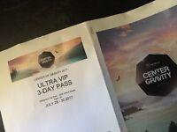 Centre of gravity (COG) ultra VIP passes x4