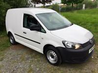 VOLKSWAGEN CADDY 1.6 TDI, 2013, PLY-LINED, SHELVED, BULK HEAD **FINANCE THIS FROM £37 PER WEEK**