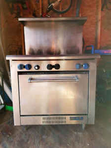 MKE stainless steel commercial stove