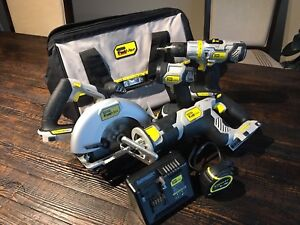 Fat max drill, saws and work light with batteries and charger