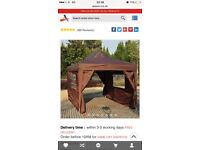 Gazebo chocolate 4.5 m x 3 m brand new £100