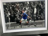 RFC RANGERS football Kyle Lafferty signed framed print COLLECTORS Captains Armband