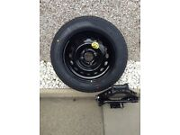 Never used emergency 14inch wheel and jack