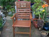 Adults All Wooden Garden Armchairs.