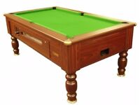 Mahogany Simply Pool Kensington Slate Bed Pool Table - New Recover - Logo Cloths - Delivery !!LOOK!!