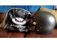bell open face helmet.