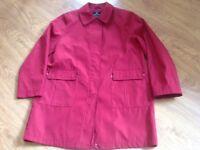 Ladies Red under Wraps Coat.