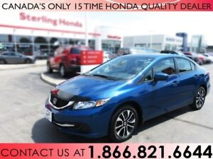 2015 Honda Civic EX, WARRANTY   NO ACCIDENTS   1 OWNER   SUNROOF