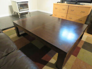"LARGE STURDY COFFEE TABLE 56""L X 42""W X 16"""