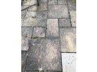 used concrete patio slabs 3 sizes