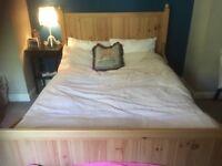 Ikea pine double bed