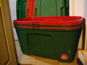 (5) XXL MOVING / STORAGE BOXES (ON ROLLERS)