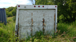 Truck box canister shed for dry storage