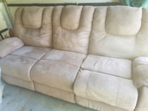 Reclining couch and matching loveseat