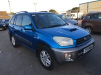 2001 Toyota RAV4 Diesel 4x4 Jeep Beautiful & Unquie Colour Super Condition & Drive Only £1450 ONO