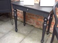 Heavy duty writing desk with lockable draw and key.