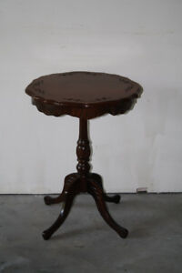 Carved Mahogany Accent Table