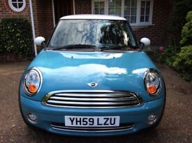 MINI COOPER 2009 OXYGEN BLUE + PEPPER PACK + LOW MILEAGE CLEAN & WELL LOOKED AFTER