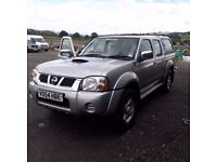 breaking nissan navara D22 4x4 silver double cab snug top parts spares