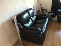 2x leather recliners