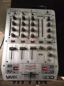 Behringer VMX300, 3 Channel DJ Pro Mixer