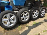 Four Ford Focus wheels and tyres