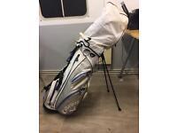 Dunlop golf clubs and callaway bag