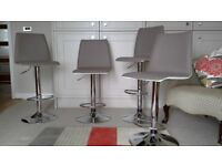 John Lewis Xavier Bar Stools 4. Gas life adjustable height in Taupe and Cream