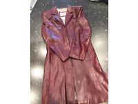 Leather oxblood medium jacket