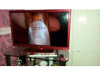 """Red logik 24""""; TV eith dvd and Freeview"""