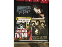 Selection of books about bands in excellent condition