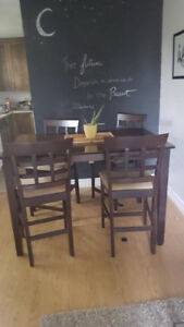 Pub style table + four chairs