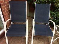 Garden reclining chairs x5