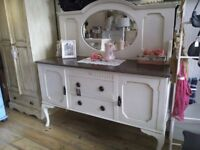 PRICE DROPPED!!! Big Antique Sideboard with back Mirror.