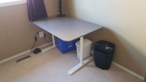 "IKEA Desk - 47"" x 31"" with adjustable height"