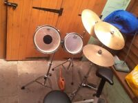 Premier 5+2 1026 snare 8lug drums pearl x500 hihat 3 crash heavy duty hardware,power lugs pro drums