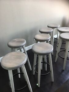 $60 each- Rustic refinished hardwood bar stools