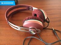Vintage pink headphones - new