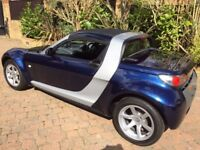 2004 SMART ROADSTER IN METALLIC BLUE AND SILVER - 698cc Exc Condition