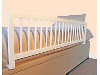 SAFETOTS EXTRA WIDE WOODEN BED RAIL WHITE RRP £35
