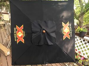 New Dos Equis Patio Umbrella including Cast Iron Stabd
