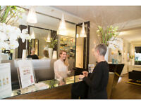 Receptionist Position Available at 5* London Salon