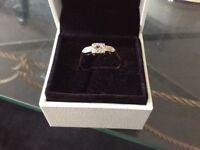 18 ct platinum diamond ring