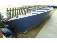 Large rowing boat 14ft