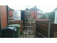Extra large wooden step ladders shabby chic