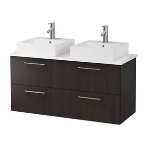 Ikea Godmorgon Double Sink Cabinet with Countertop - BRAND NEW!