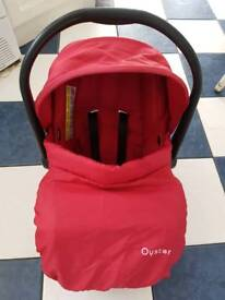 red oyster max car seat