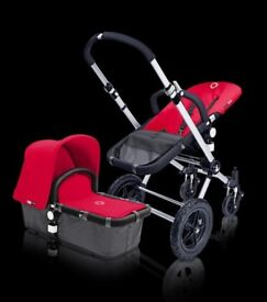 Bugaboo Cameleon 3 piece RED Tailored Fabric Set Brand New in Box