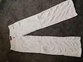 Womans White FIRETRAP trousers size 10