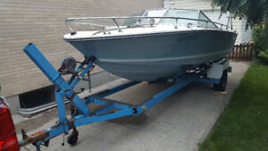 19' Searay ezloader trailer 165HP